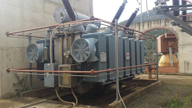 Predisposizione per sostituzione isolatori AT - Trasformatore 25 MVA