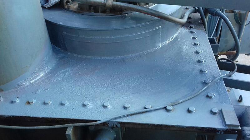 intervento su trasformatore con ripristino perdita olio su variatore sotto carico