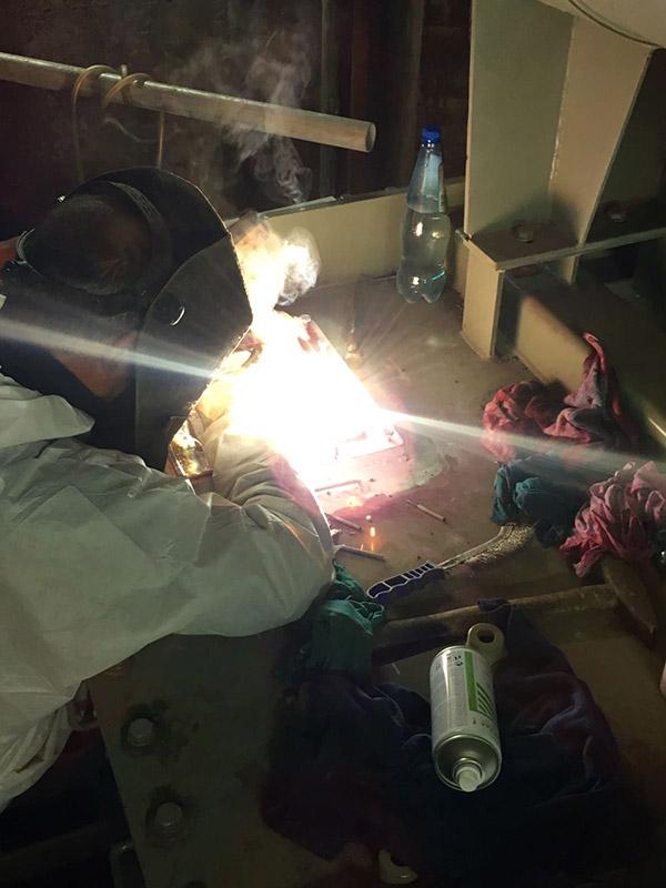 montaggio sistema antincendio su trasformatore