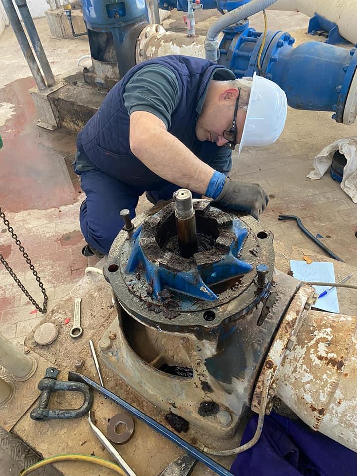 Intervento di manutenzione impianto idrico ENAS