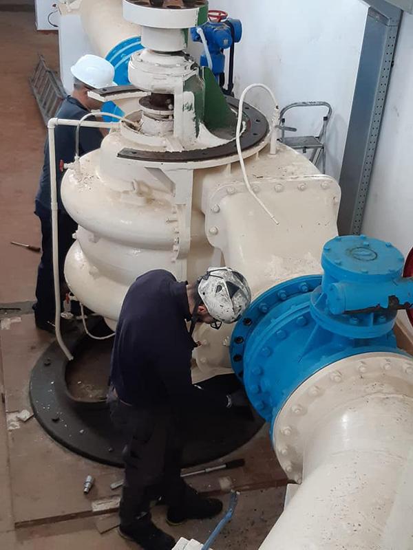 Smontaggio pompa e motore elettrico impianto ENAS