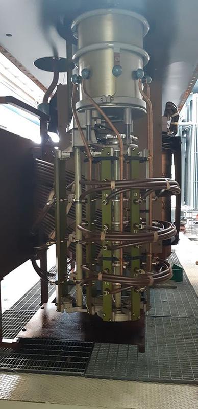 Variatore sotto carico di un trasformatore da 40 MVA in revisione